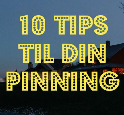 Find tips til at optimere din pinning på min hjemmeside: