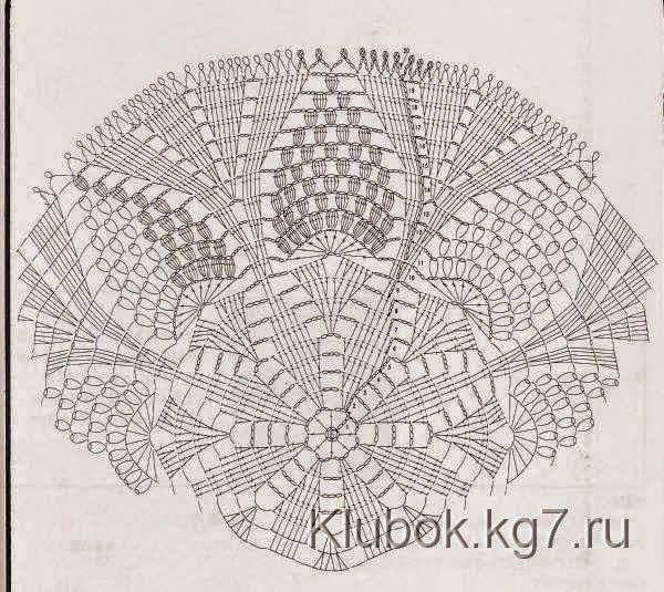 Carpeta tejida al crochet con uvas - con patrones | Crochet y Dos ...
