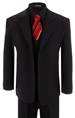 3dd48fb44407 Formal Boys Kids Dress Suit W/Black Shirt From Baby to Teen | home ...