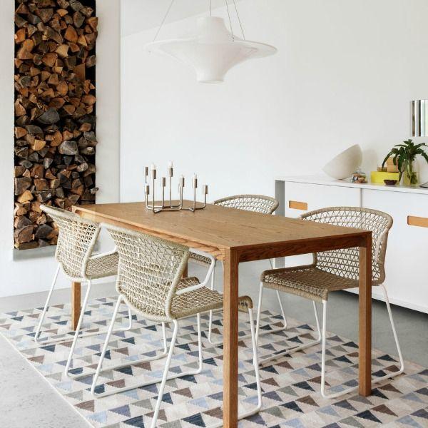 Inspiración Deco: Una alfombra bajo la mesa de comedor ...