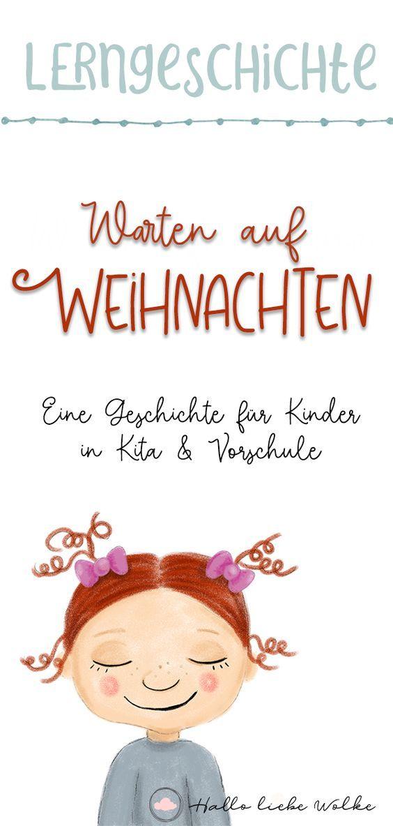 Lena ist aufgeregt! (Warten auf Weihnachten - eBook mit Bastelideen, Ausmalbildern und einer Adventsgeschichte) • Hallo liebe Wolke #hallodezember