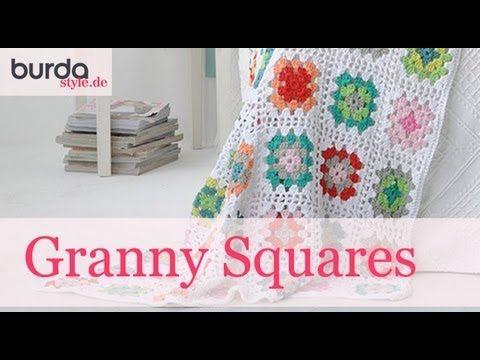 burda style – Granny Square häkeln | Stricken und Häkeln | Pinterest ...