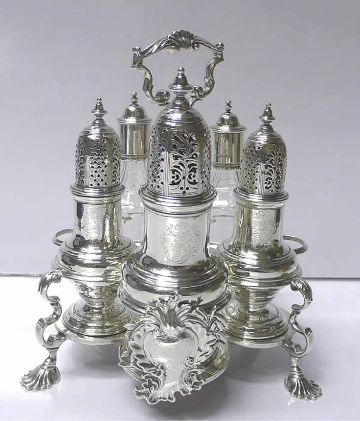 Victorian Cruet Set Antique
