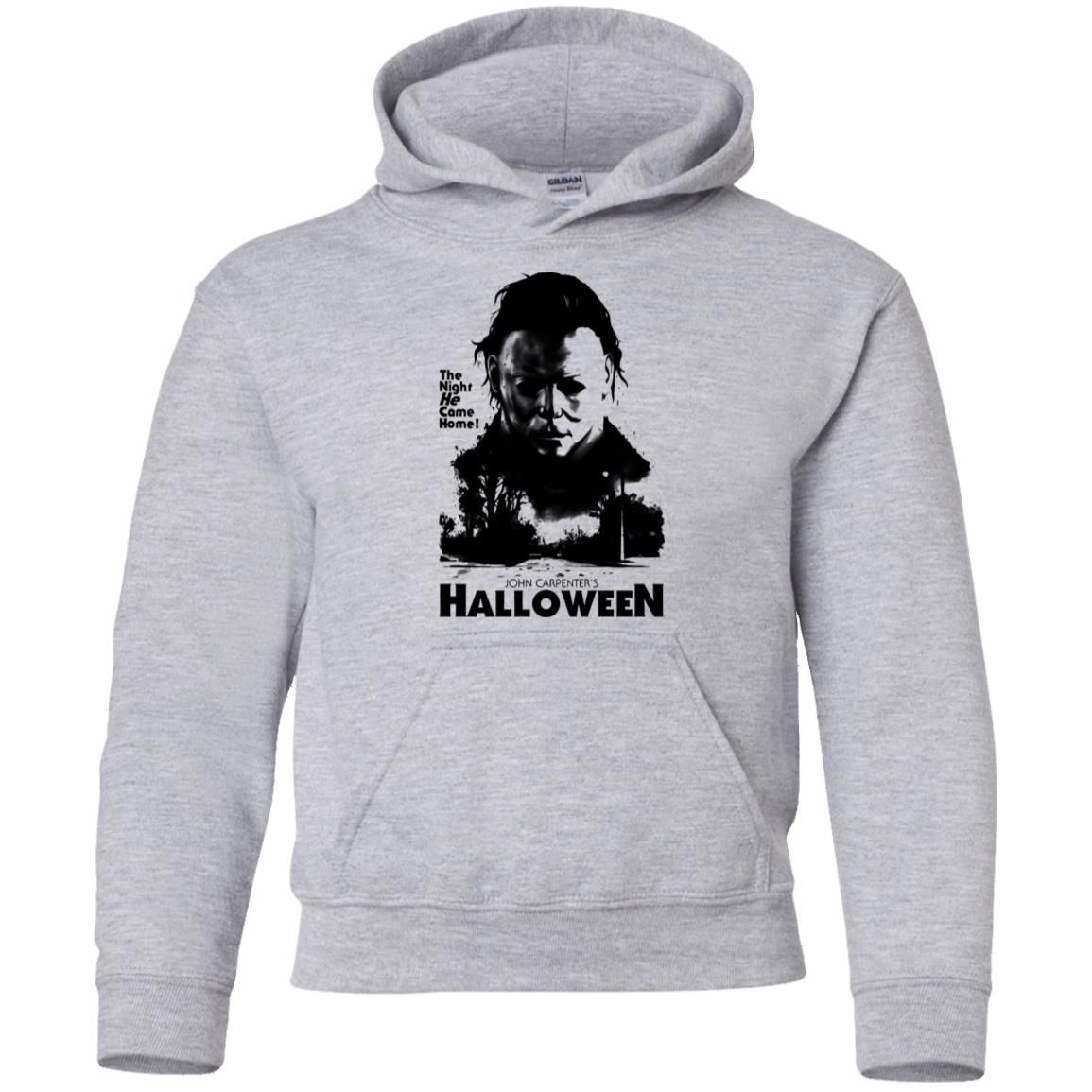 Halloween Horror Movie Michael Myers Youth Kids Pullover