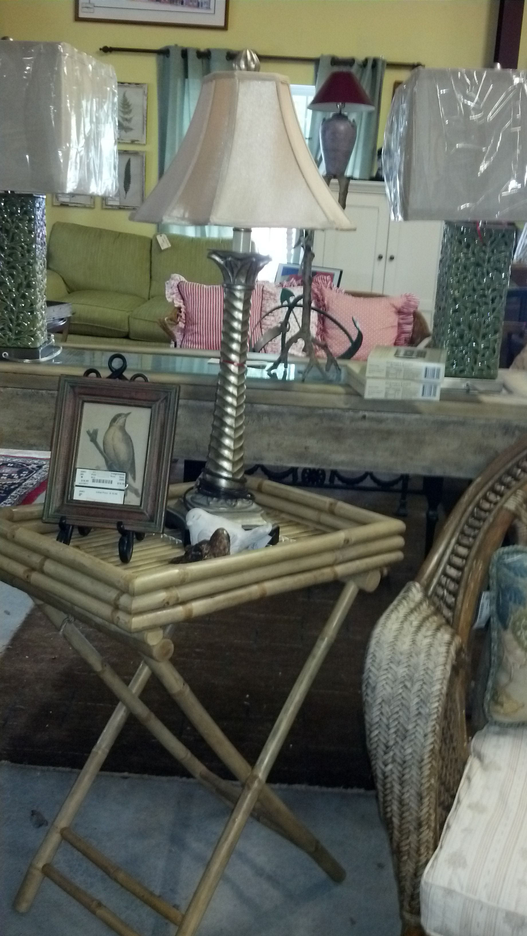 Verstile Rattan Folding Tray Tables Perfect For A Portable Bar, Sunroom  Side Table , Or