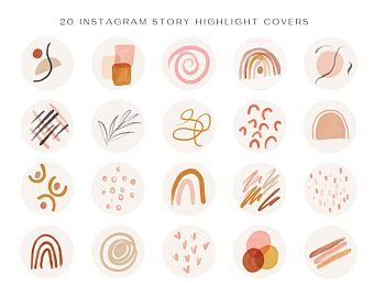 Instagram Highlight Cover | Highlight Cover Icons | Social Media Icons | Instagram Icons | Highlight Covers | Instagram | Geometric Shapes