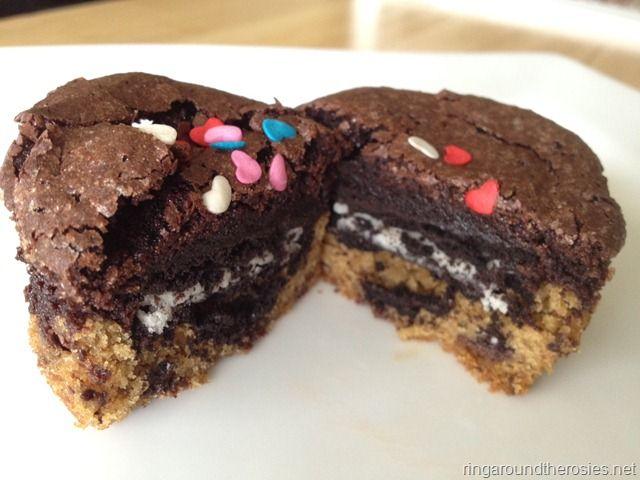 triple decker brownie cookie oreo goodness