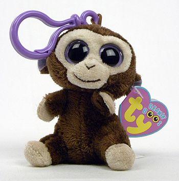Coconut - monkey - Ty Beanie Boos (key-clip)  76d45c8220c