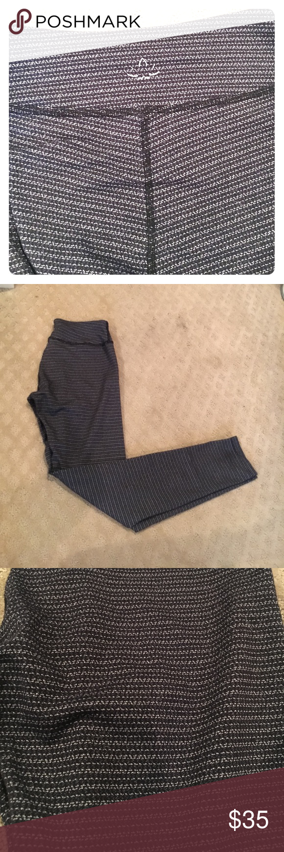 Beyond Yoga Leggings Beyond yoga's static striped pants. Light worn and in perfect condition. Softest / most comfortable pants ever! Beyond Yoga Pants Leggings
