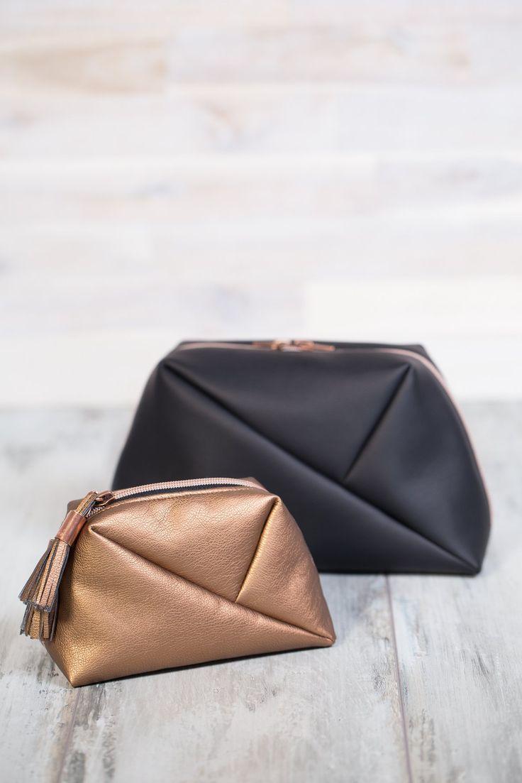 Kosmetiktasche Geo-Bag - Nähvideo und Gratis Schnittmuster für 2 Größen