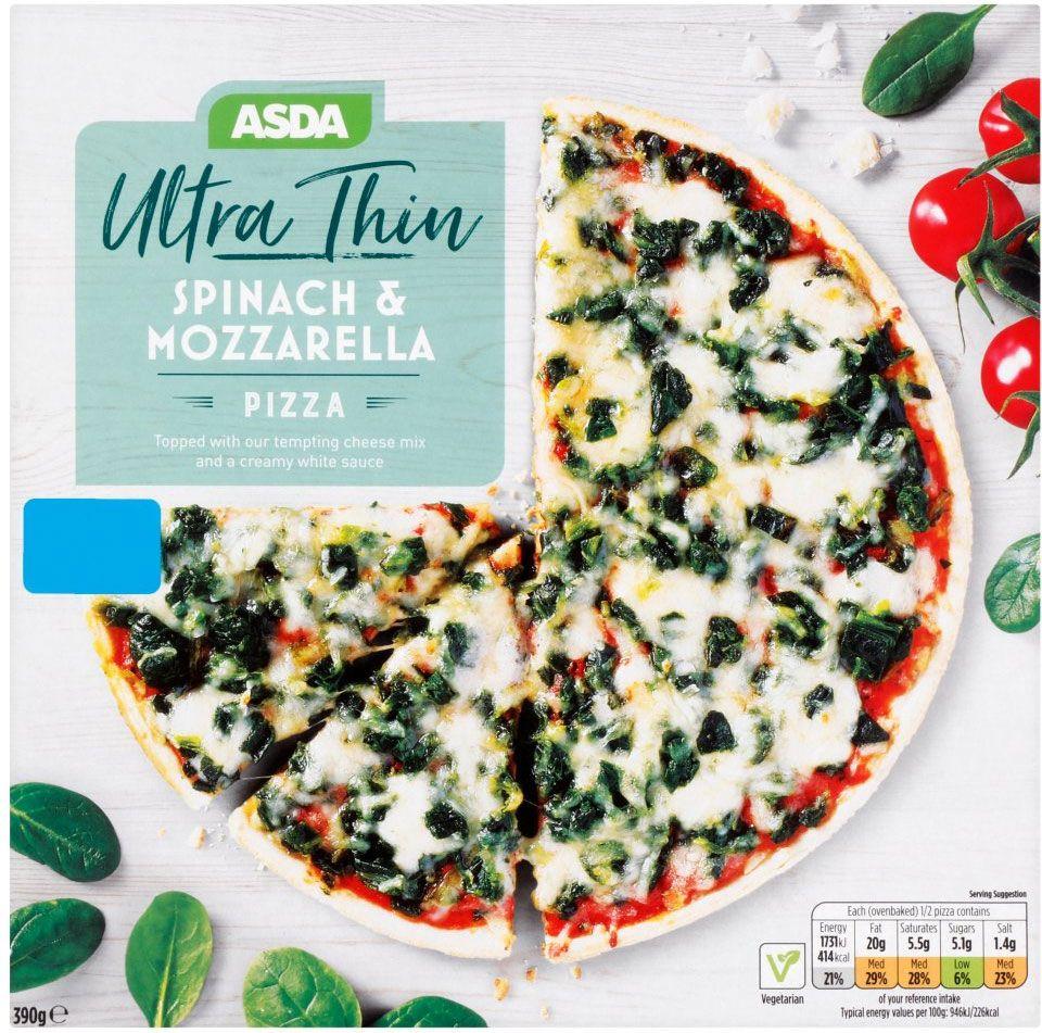 Asda Ultra Thin Spinach Mozzarella Pizza 390g Compare Prices