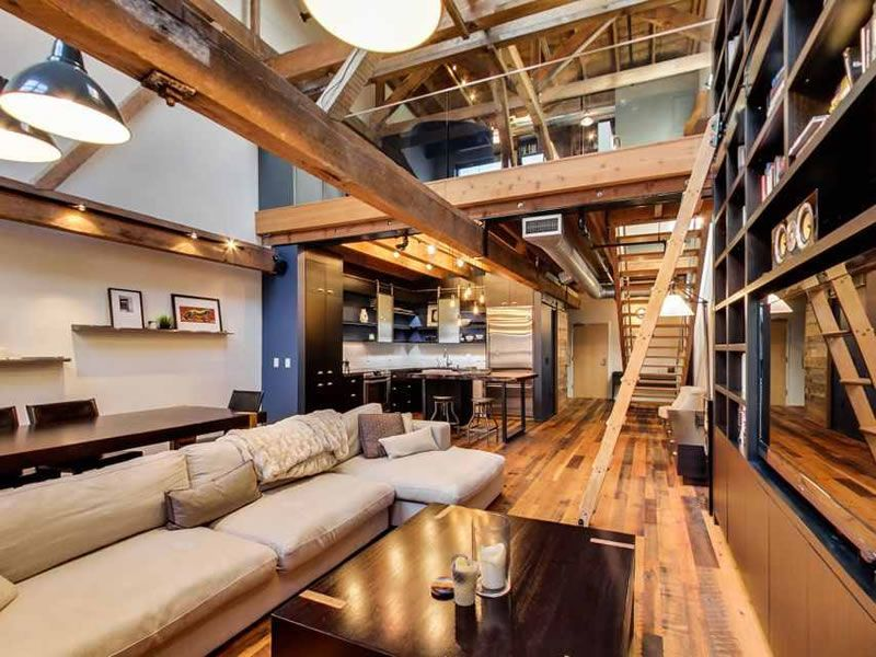 Warehouse Lofts Dramatic Remodeling Of A Warehouse Loft
