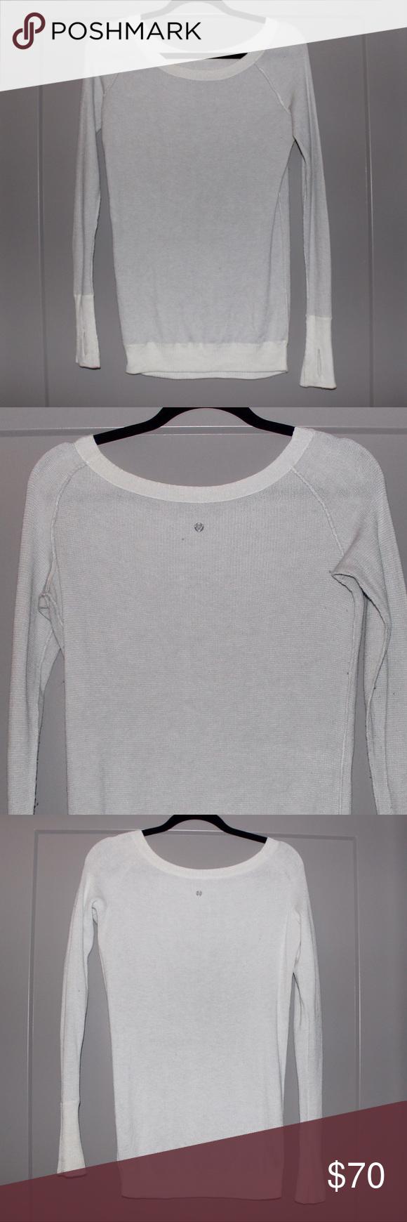 Lululemon Reversible Sweater | White sweaters, Lululemon and Gray