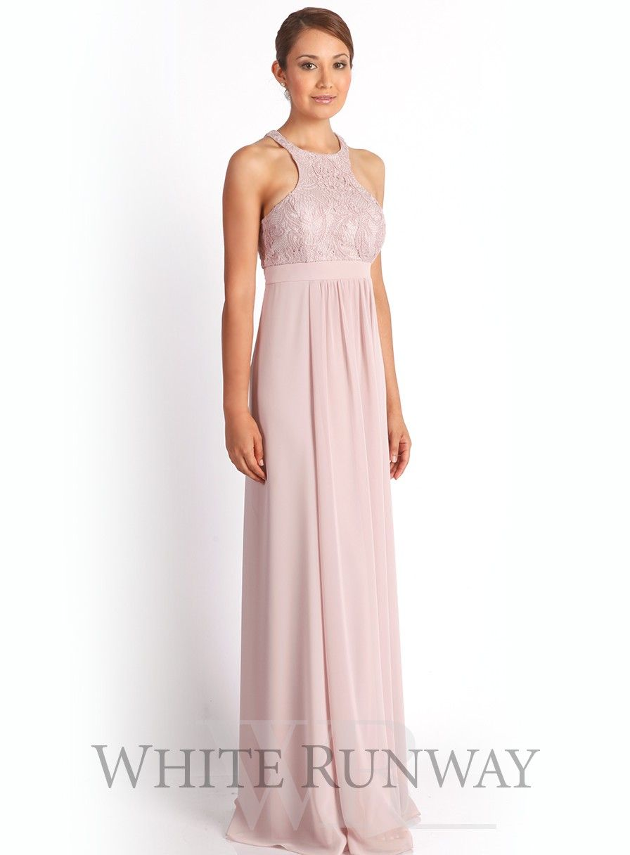 574d6e019cb A beautiful full length dress by designer Mr K. A flattering style  featuring a stunning lace bodice and stretch chiffon skirt. Maternity  Bridesmaid Dress.