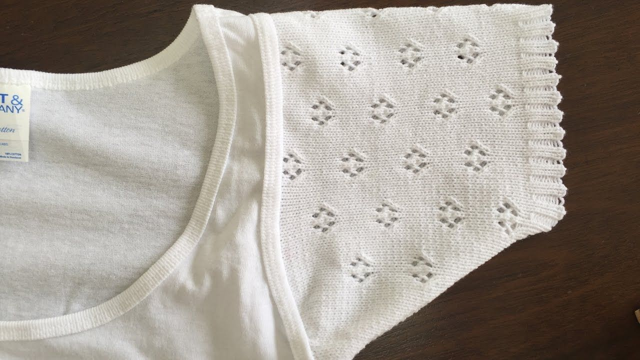 How to attach knitted sleeve to a summer top