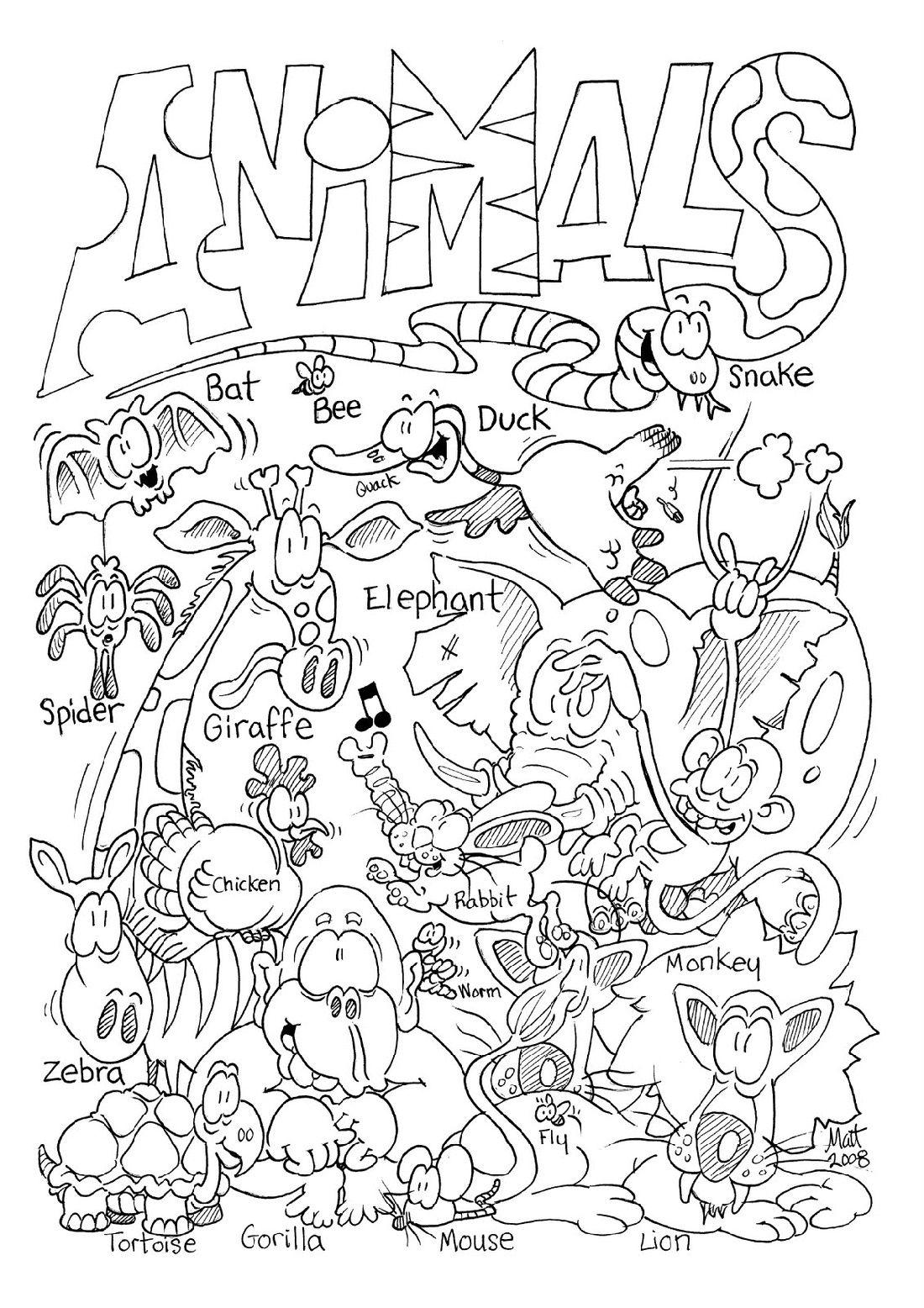 Free Printable Animal Coloring To Print