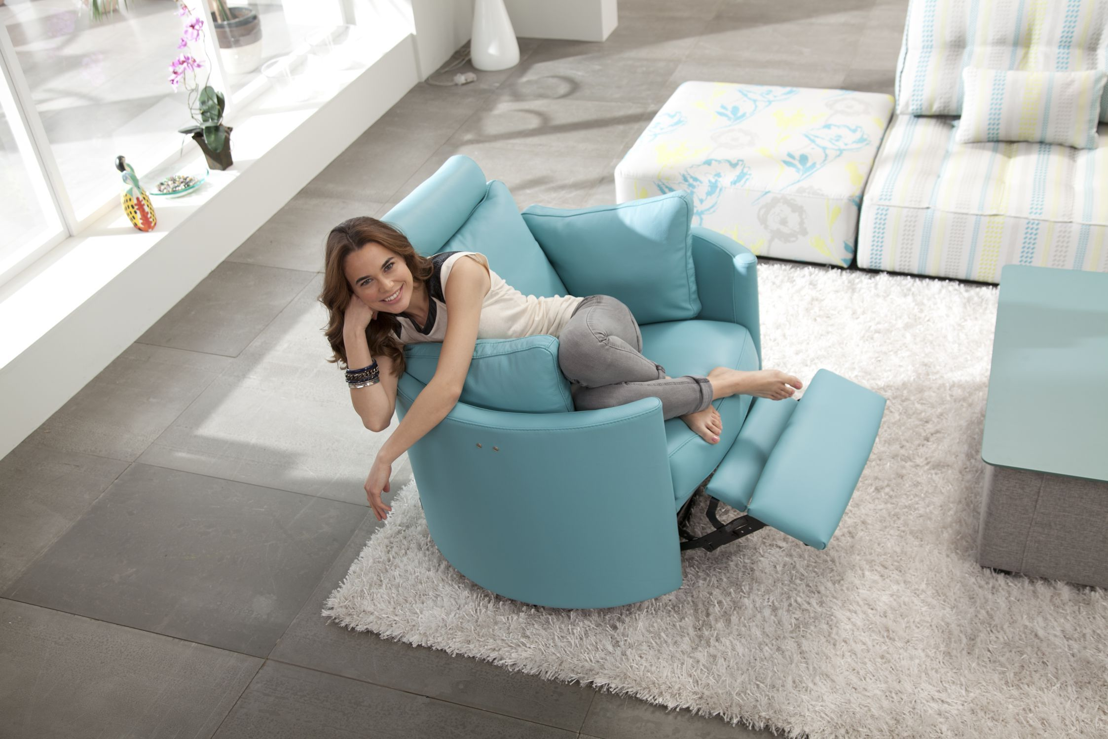 Moon Modern Recliner By Fama Sofas Spain Modern Recliner Chairs Modern Recliner Contemporary Recliners