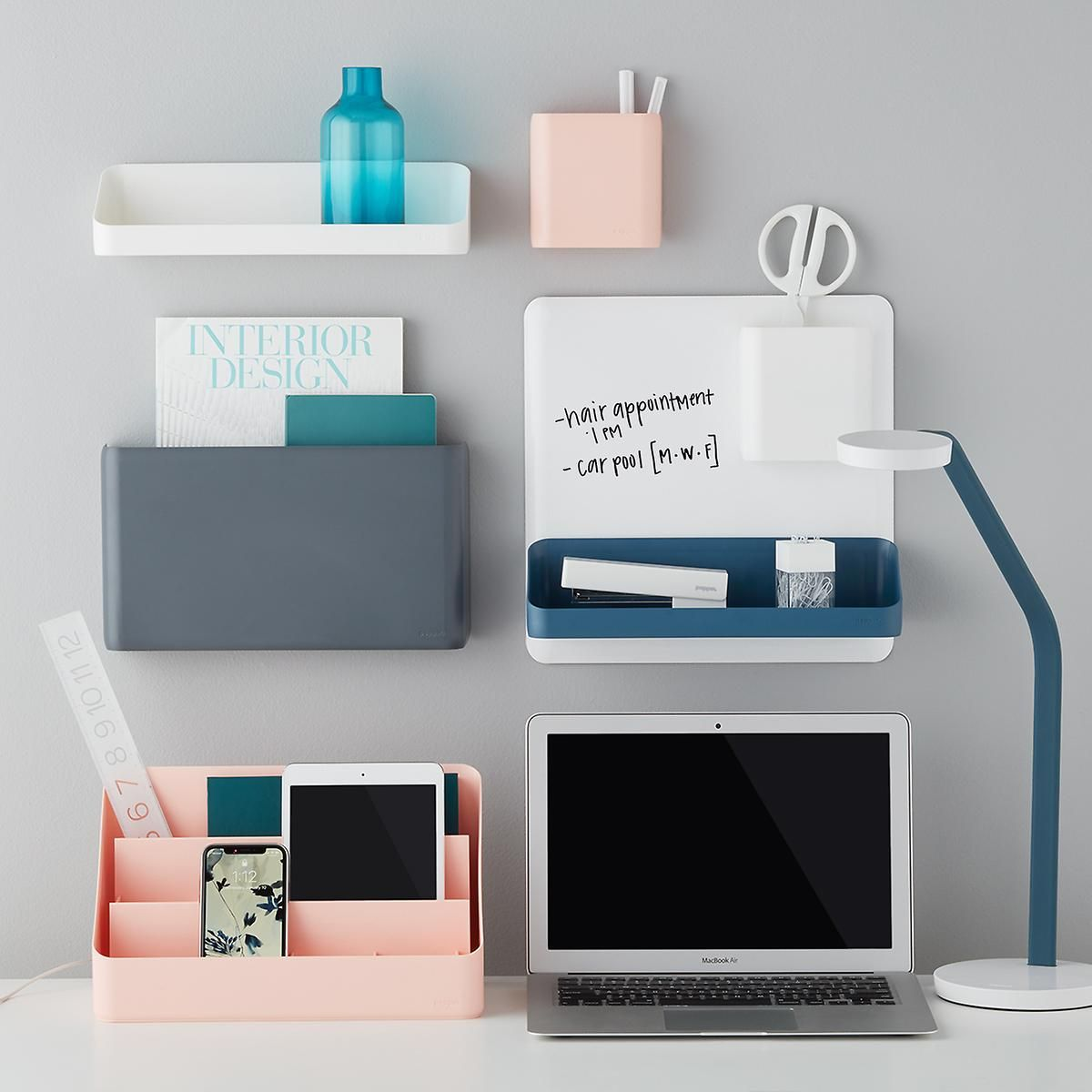 Poppin Wall System At Container Store Home Office Storage Home Office Shelves Home Office Decor
