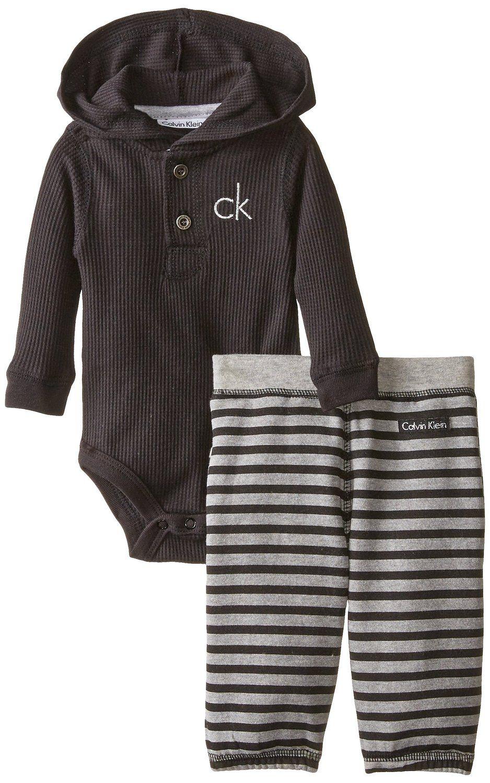 Amazon Com Calvin Klein Baby Boys Newborn Black Bodysuit