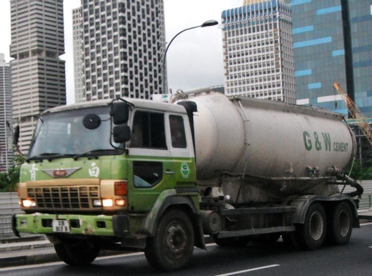 G&W Ready-Mix Pte Ltd Hino Super Dolphin FS Bulk Cement Tanker Truck ...