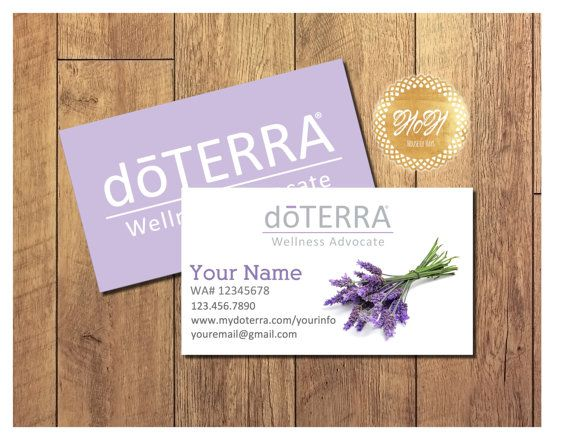 Essential Oils Business Cards Lavender Double Sided EDITABLE