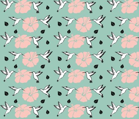 Sweet hummingbirds fabric by fantazya on Spoonflower - custom fabric