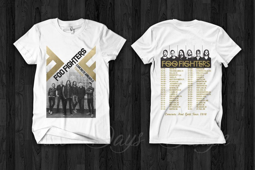 Ebay Link Foo Fighters Concrete And Gold Tour 2018 T Shirt
