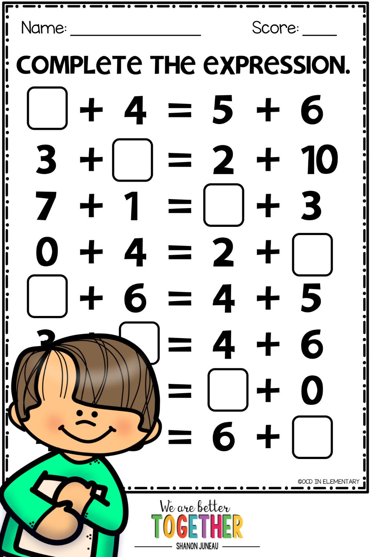 Expressions 1st Grade Math Worksheets 1st Grade Activities Subtraction Practice [ 1500 x 1000 Pixel ]
