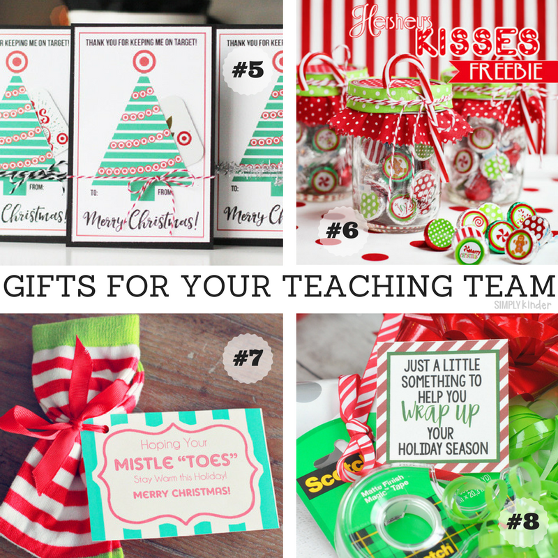 Easy Gifts For Your Teaching Team Simply Kinder Teacher Gifts Christmas Ideas Teacher Christmas Gifts Diy Teacher Christmas Gifts