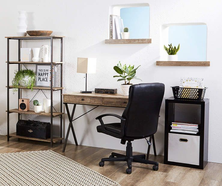 I Found A Rustic 2 Drawer Writing Desk At Big Lots For Less Find More At Biglots Com Desk In Living Room Home Home Desk