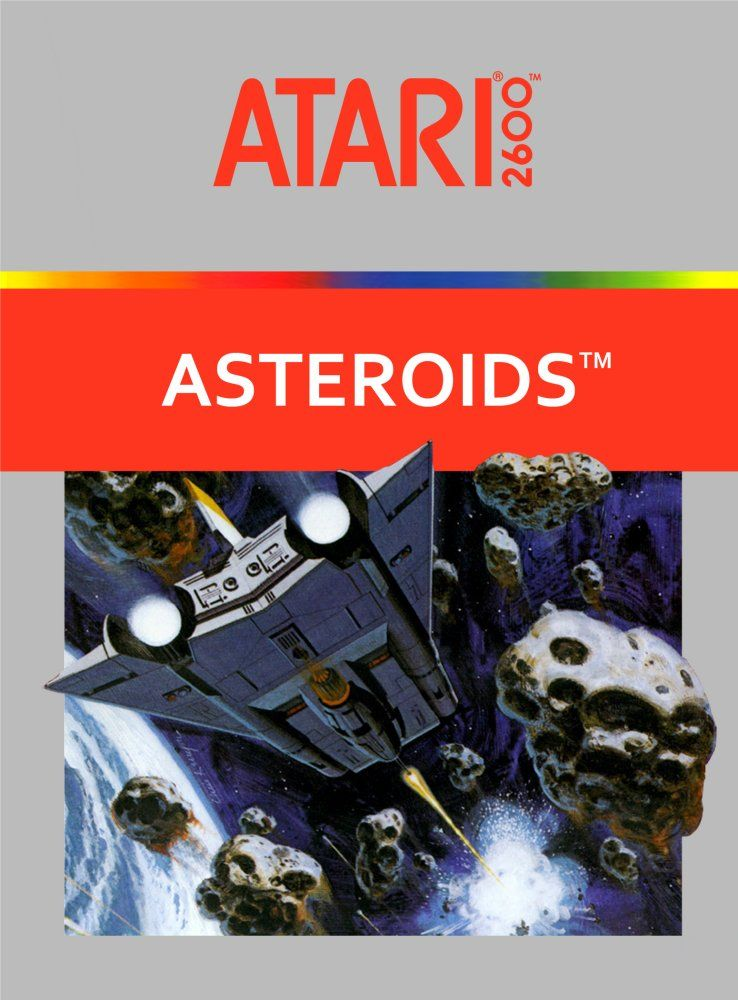 Vintage Atari Art Poster 2 Sided Asteroids Basketball 2600 Arcade Game Man Cave