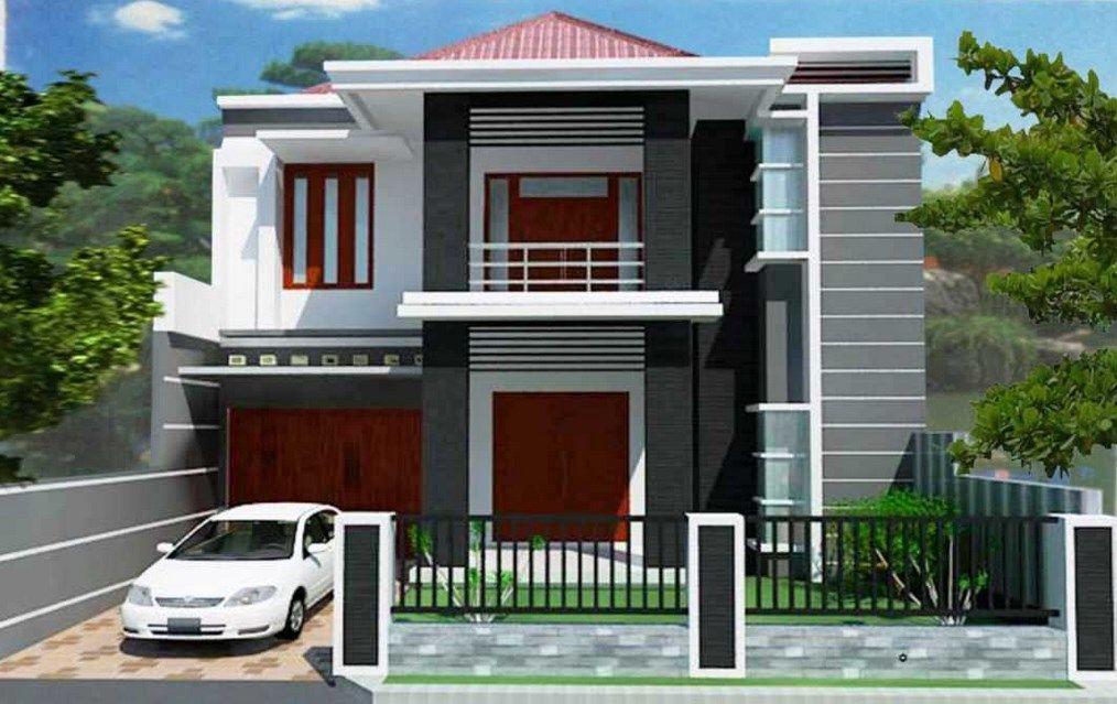 Gambar desain rumah type 90 2 lantai t&ak depan & Gambar desain rumah type 90 2 lantai tampak depan | Animalisticc ...