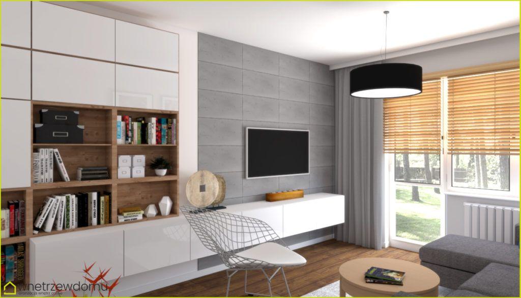 Salon Zabudowa Besta Ikea Na ścianie Dekorator Wnętrz Online