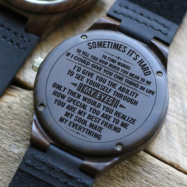 For husband engraved wooden watch diy gifts for him