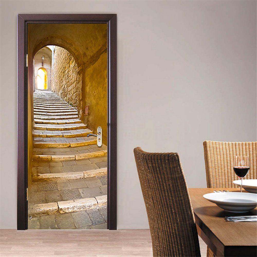 Türtapete Bad Türposter selbstklebend Gäste Treppe Modern Zimmer