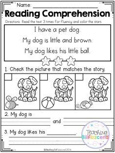FREE Kindergarten Reading Comprehension (SET 2) | Pinterest | Kind ...
