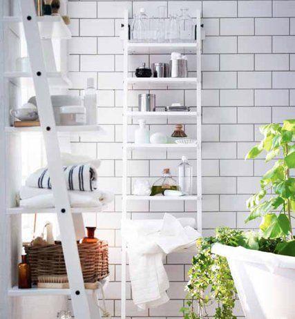 ladder-style bathroom shelving (med bilder) | inredning