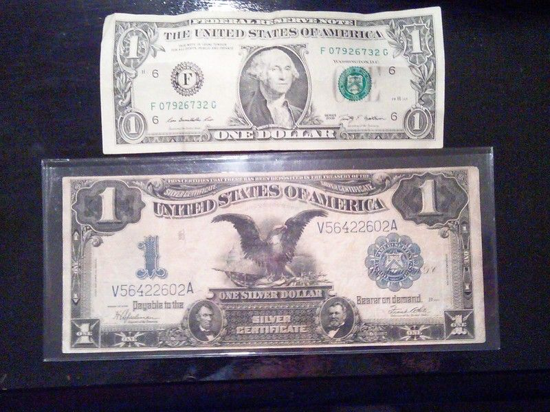 1899 U.S. BLACK EAGLE *SILVER CERTIFICATE* EXTREMELY FINE CONDITION ...