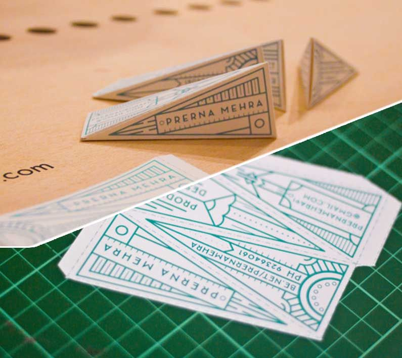 3d origami business card design | (not boring) business card ...