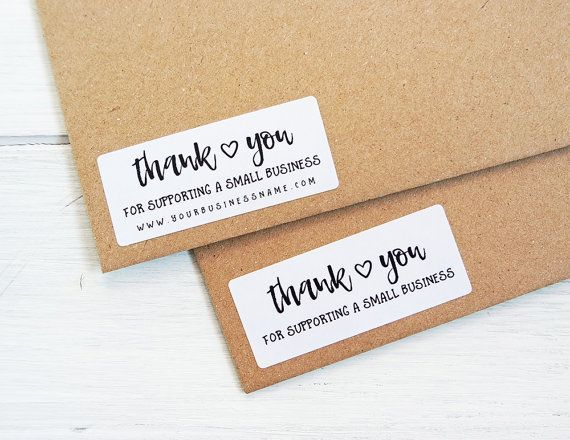 Thank you for supporting small business stickers er