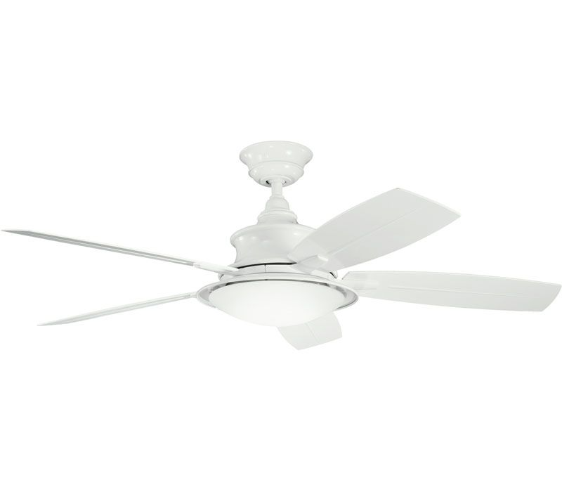 Kichler Cameron Fan 310104wh At Del Mar Fans Lighting Over 100 000 Happy Customers