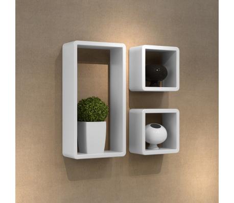 Murale Design x 3 MDF Cubes x 22 Etagères 42 blanc 10Home drexoBCW