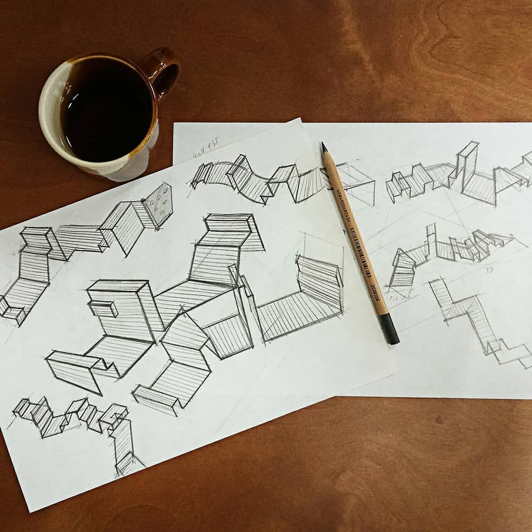 Sketching Parkour Playground Yekaterinburg Russia By Daria Efremova Sketch Ideas Iddesign Drawing Sketching Parkur