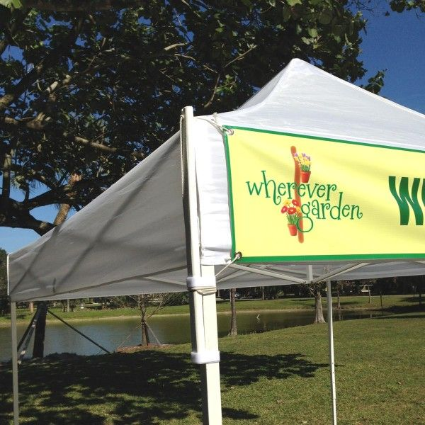 How To Attach A Banner To An Ez Up Tent Shelter Google Search Ez Up Tent Craft Fairs Booth Display Ideas Diy