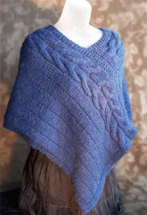 Cable Knit Shawl Pattern : Shawl Cape Poncho Free Knitting Patterns Knitting Pinterest Knitting ...