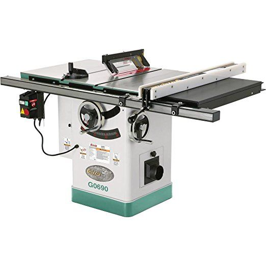 Grizzly G0690 Cabinet Table Saw With Riving Knife 10 Inch Power Table Saws Table Saw Table Porter Cable Table Best Table Saw Cabinet Table Saw Table Saw