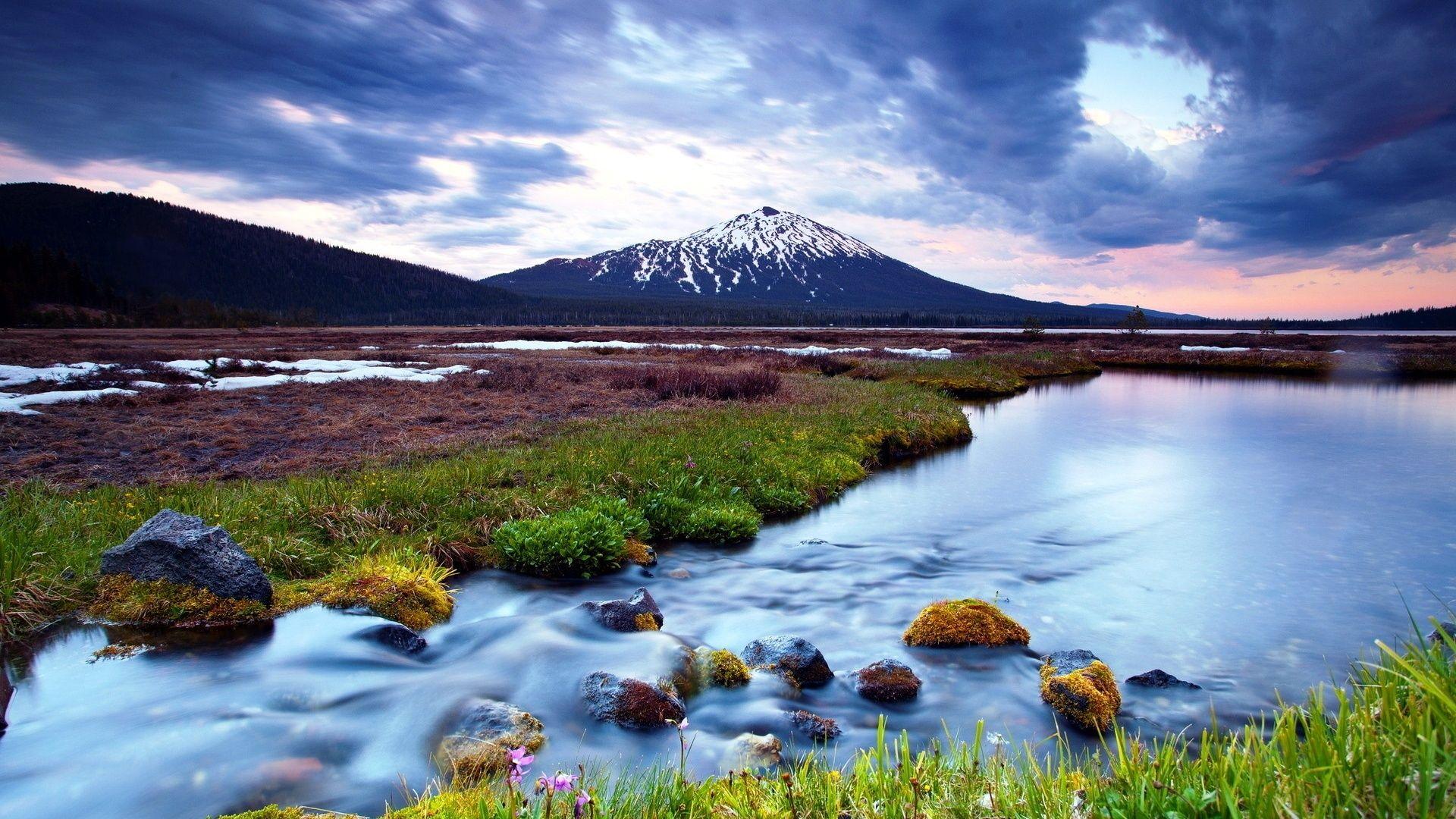 Beautiful River Land Wallpaper Beautiful Landscape Wallpaper Beautiful Landscapes Mountain Landscape