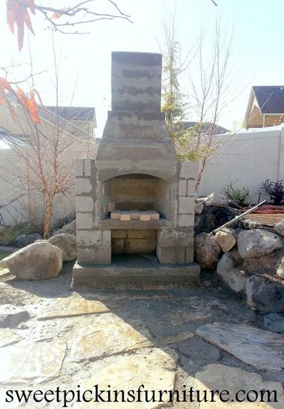 Sweetpickinsfurniture diy outdoor fireplace projects diy outdoor fireplace solutioingenieria Choice Image