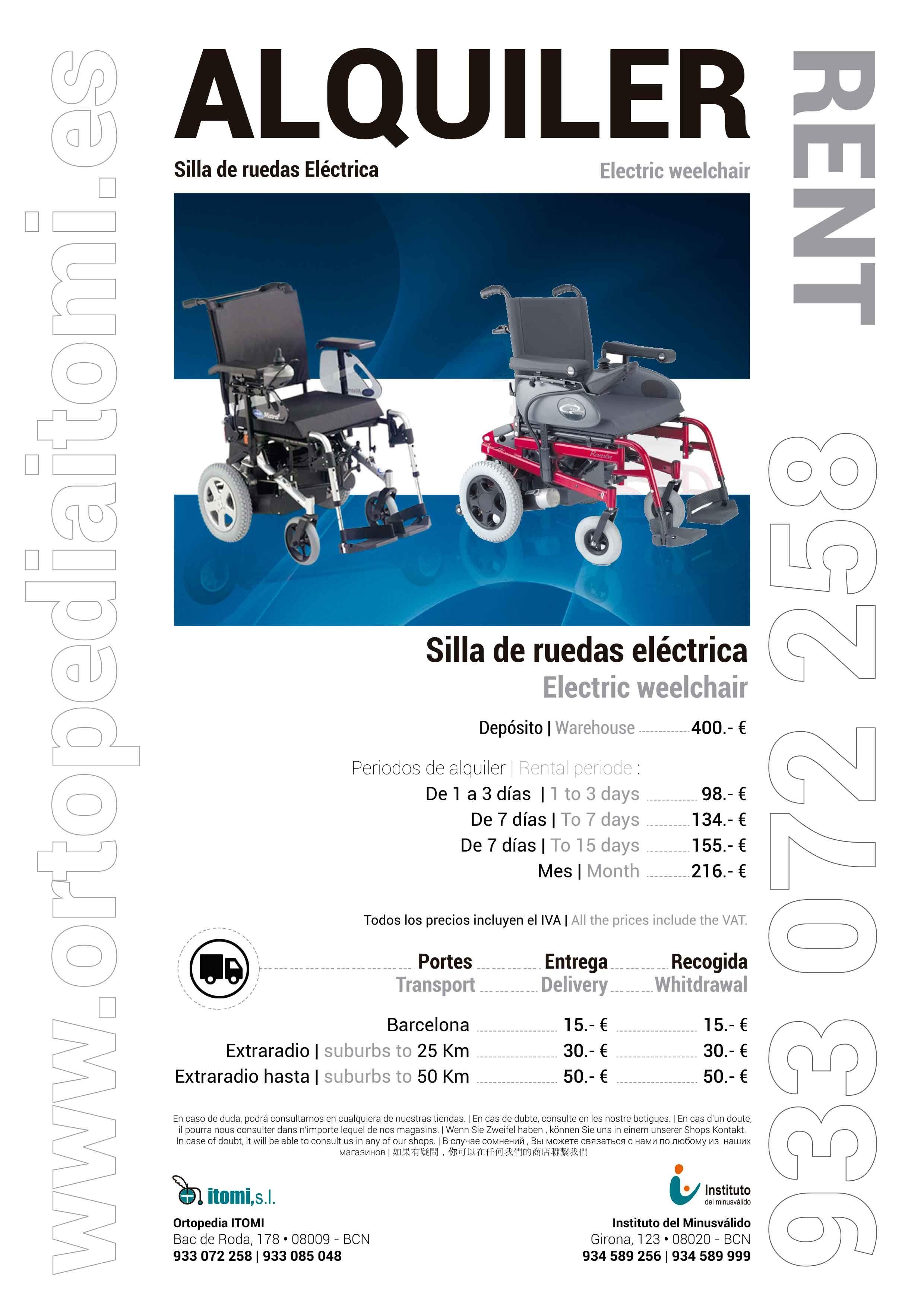 Alquiler silla de ruedas El ctrica