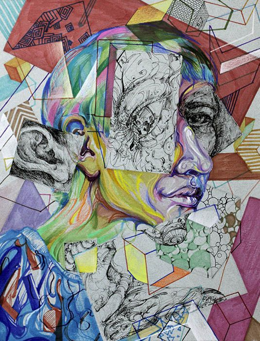 6c ap central exams: 2014 studio art drawing portfolio student.